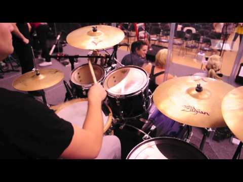 Planetshakers - Mike Webber drum solo sound check