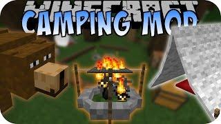 Minecraft CAMPING MOD (Zelt, Lagerfeuer, Bär) [Deutsch]