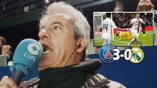 PSG 3-0 Real Madrid | Así lo narró Manolo Lama en Tiempo de Juego COPE