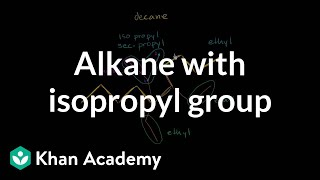 Alkane with isopropyl group | Organic chemistry | Khan Academy