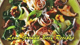 Lean Ground Beef Recipes