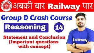 10:00 AM - Group D Crash Course | Reasoning by Hitesh Sir | Day #14 | Statement and Conclusion