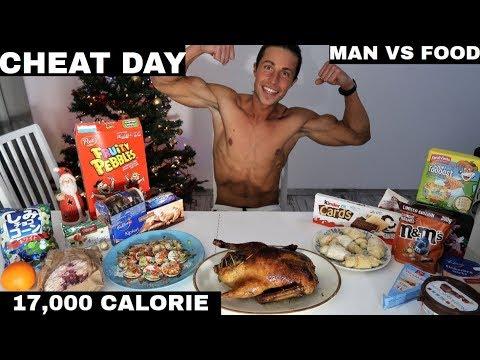 17,000+ CALORIE CHEAT DAY CHALLENGE I MAN VS FOOD