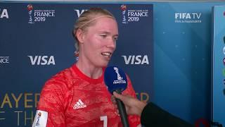 Hedvig Lindahl – Player of the Match – Sweden v Canada