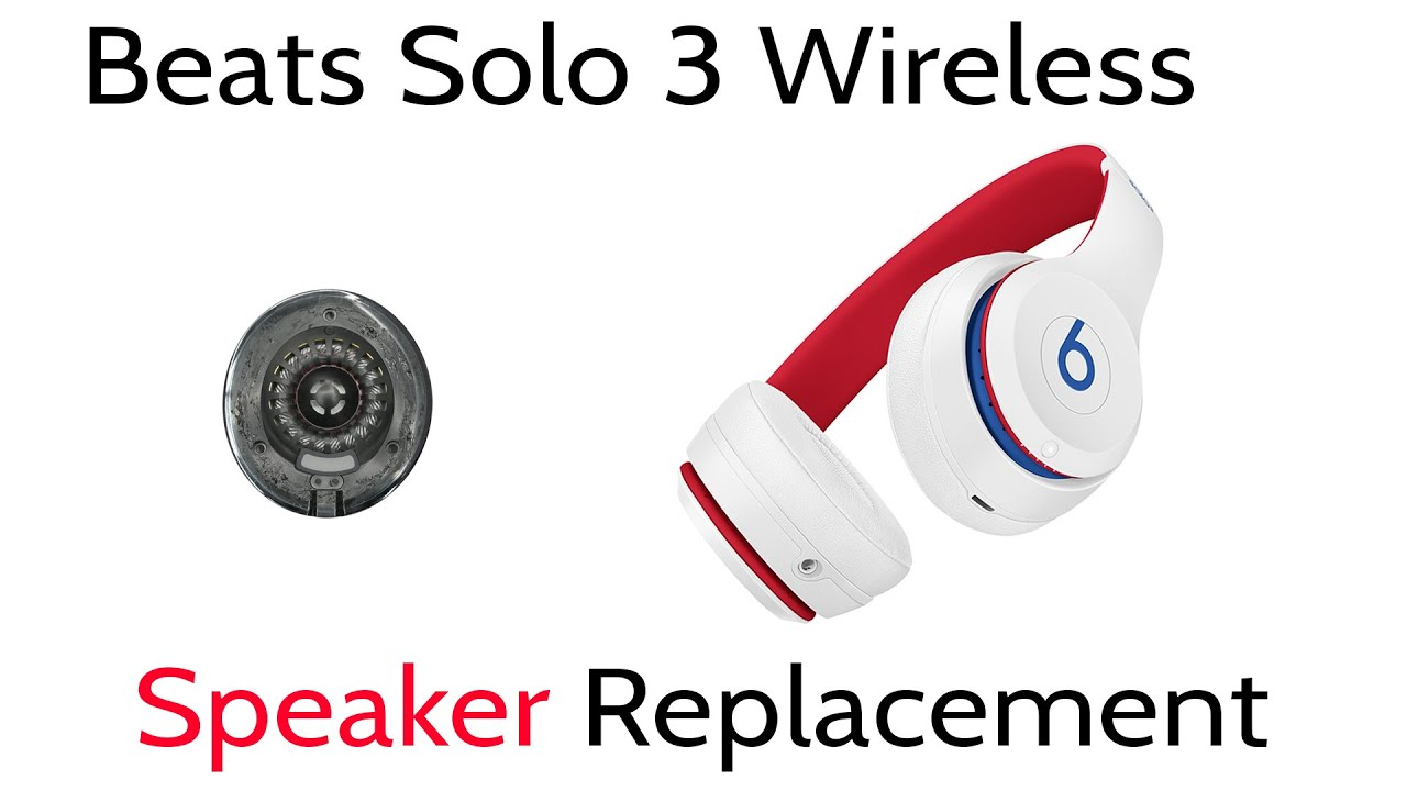 beats solo 3 wireless right side speaker repair disassembly [ 1280 x 720 Pixel ]