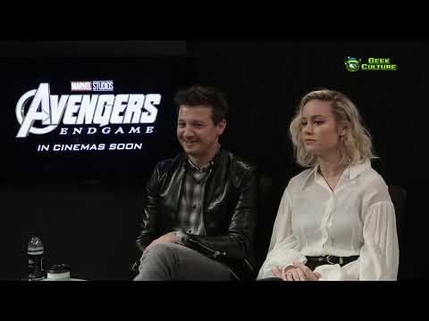 Avengers: Endgame Korea | Interview with Jeremy Renner, Brie Larson and the Russo Brothers