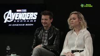 Avengers: Endgame Korea   Interview with Jeremy Renner, Brie Larson and