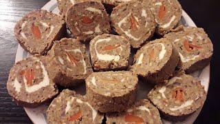 Ləziz PAŞTET resepti |Паштет из говяжьей печени |LIVER roll