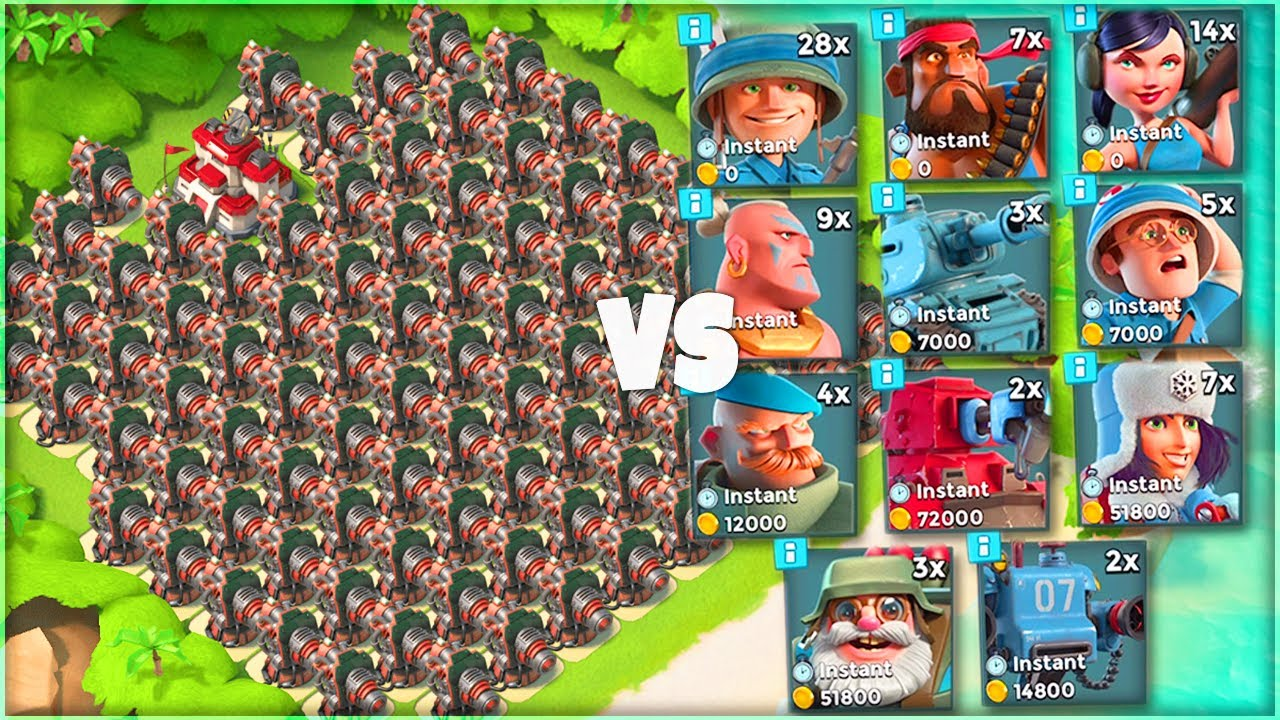 Download ALL BOOM CANNON BASE vs Every Troop in Boom Beach