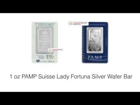 1 oz PAMP Suisse Lady Fortuna Silver Wafer Bar
