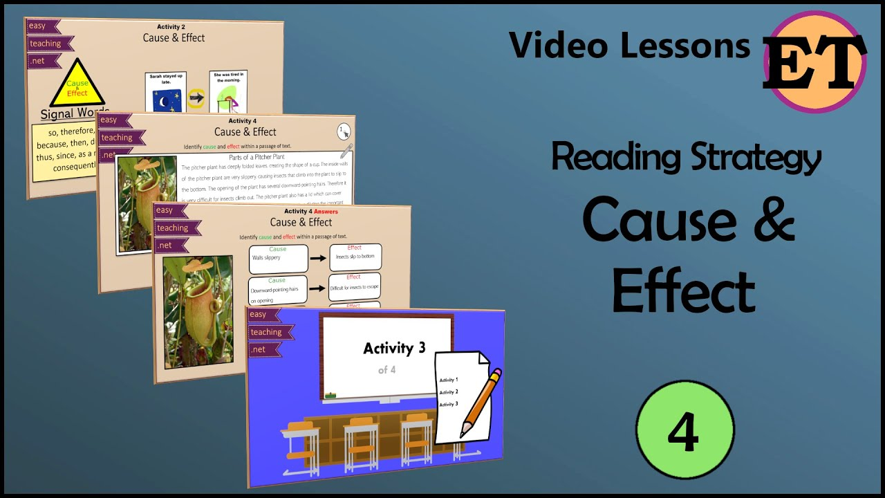 hight resolution of Cause and Effect   Reading Strategies   EasyTeaching - YouTube