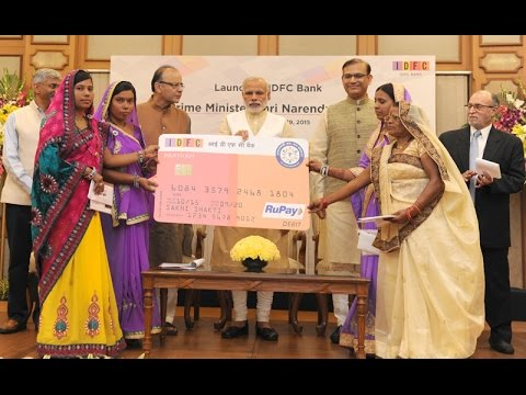 PM Modi launches IDFC bank in New Delhi