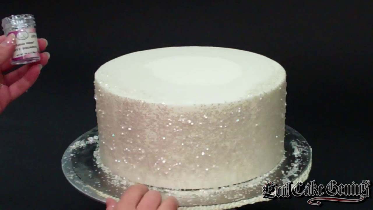 Edible Glitter Squares For Cakes Youtube
