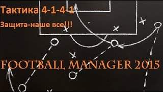Football Manager 2015.Интересные тактики || 4-1-4-1 Контратака
