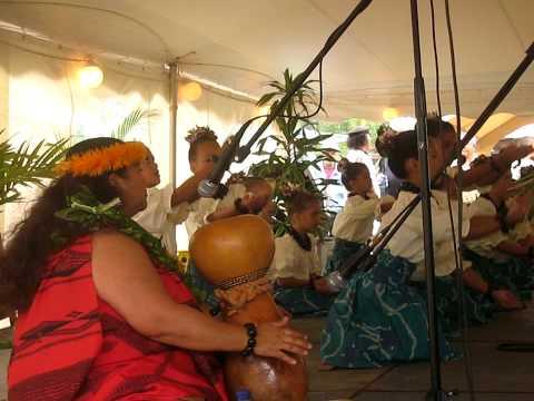 Hanalei Elementary School Hula Presentation in Kauai HI