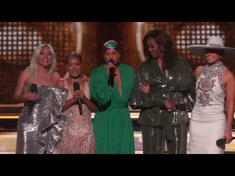 Michelle Obama points to Satan as ruler at Grammys