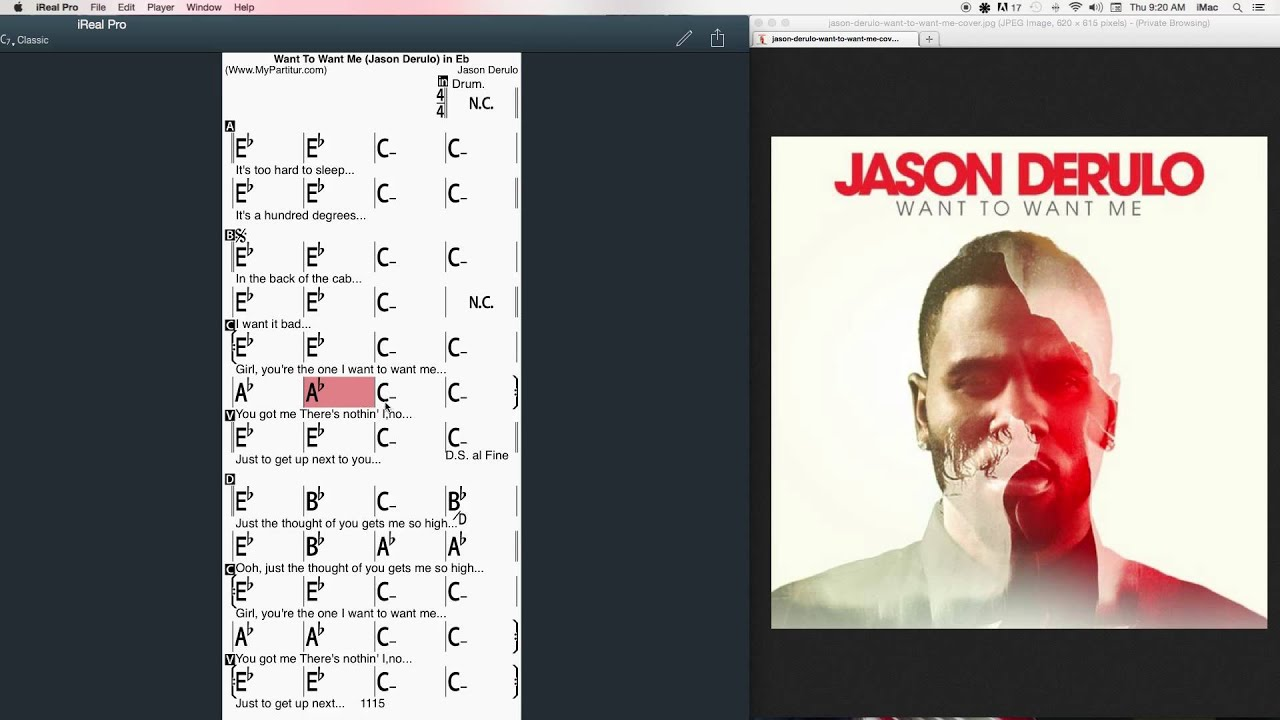 Want To Want Me Chords at MyPartitur - Jason Derulo