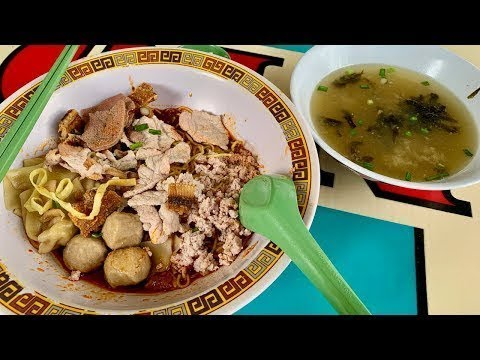 ONE MICHELIN STAR NOODLES In Singapore! (bak Chor Mee/minced Meat Noodles)