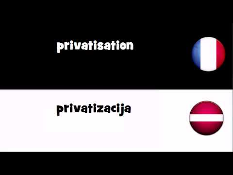TRADUCTION EN 20 LANGUES = privatisation