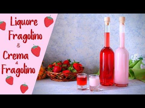 LIQUORE FRAGOLINO & CREMA DI FRAGOLINO Ricetta Facile - Liqu