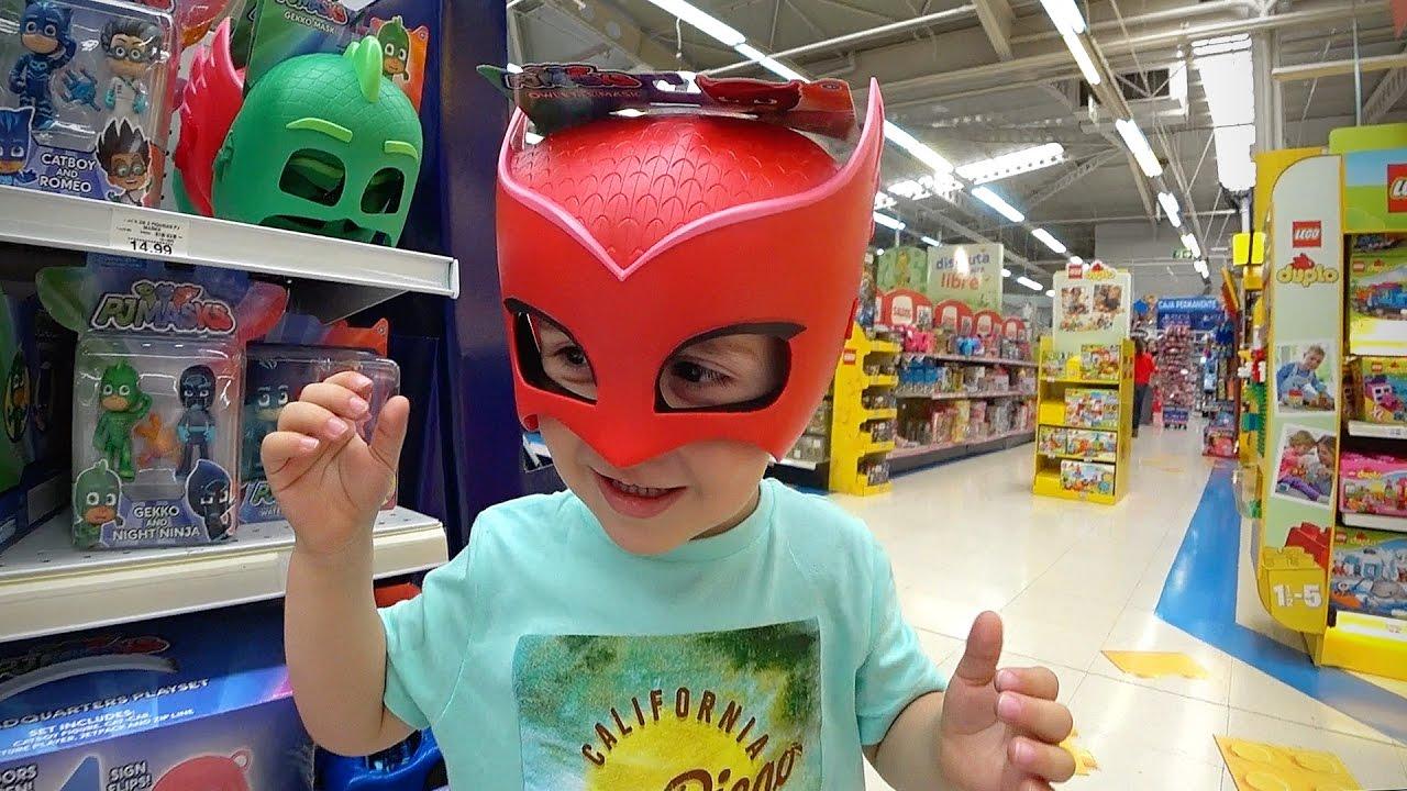 PJ MASKS ON TOYS R US!! Hot Wheels Cars 2017 Nerf Guns u0026 Paw Patrol Toys Kids Hunting & PJ MASKS NA LOJA DE BRINQUEDOS TOYS R US!! Carros Hot Wheels 2017 ...