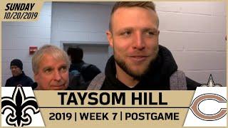 Taysom Hill Talks Option Pitch, TD vs Bears in Week 7 | New Orleans Saints Football