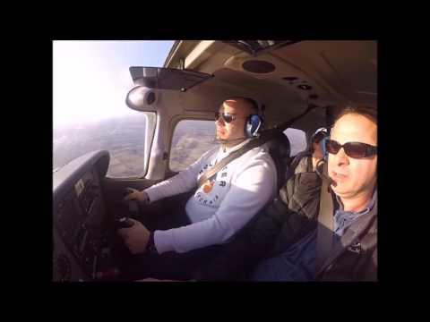 Basim and Tarek flying Cessna C-172 Over Hamilton, Ontario
