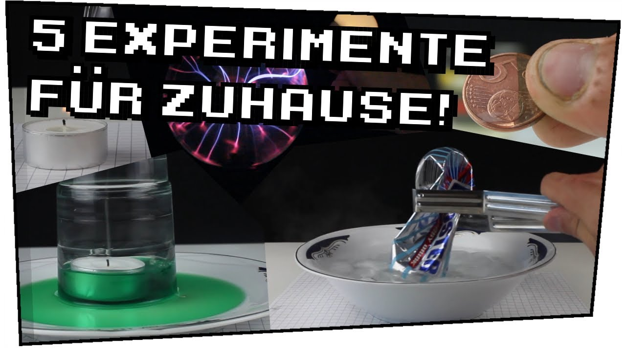 5 Experimente für zuhause! - Heimexperimente #13 - YouTube