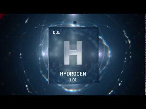 Hydrogen as Element 1 of the Mendeleev Table / of the Periodic Table of Elements - loop - ENGLISH