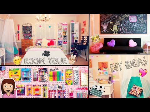 Room Tour 2015 DIY Desk Decor Ideas And Organization Tips CP Fun amp Music Videos