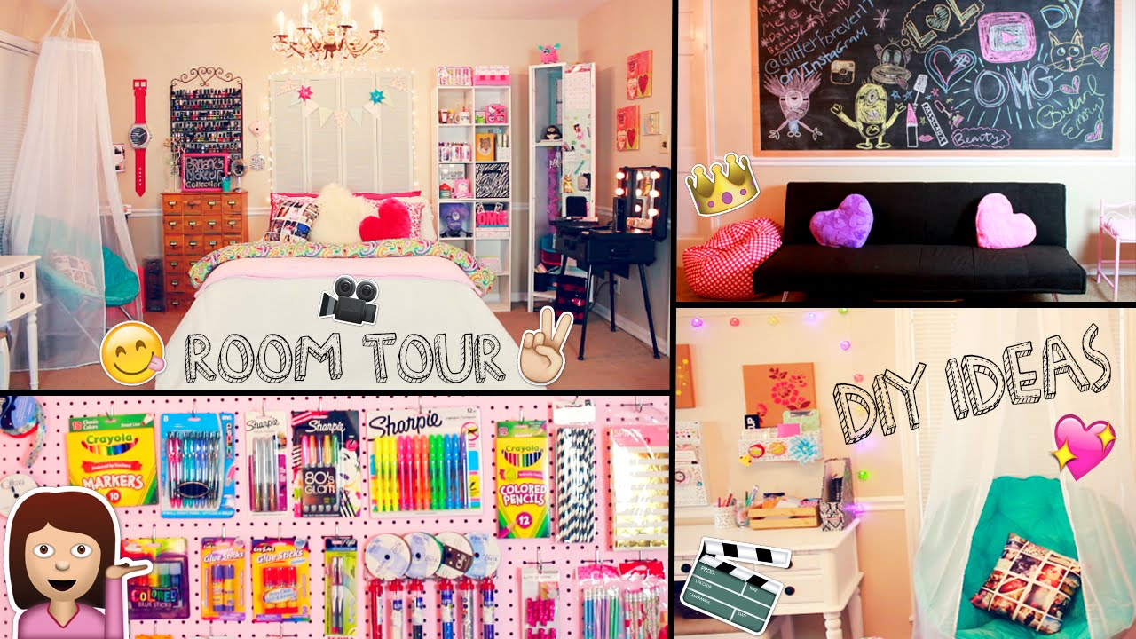 room tour 2015 diy desk tour diy decor ideas and organization tips youtube. Black Bedroom Furniture Sets. Home Design Ideas