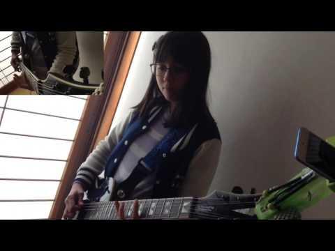 Audrey (13) Plays Guitar - Raining Blood - Slayer cover