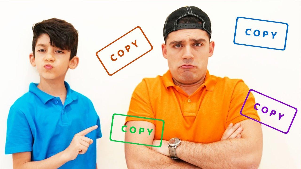 Jason Pretend Play Copy his Family Kids video