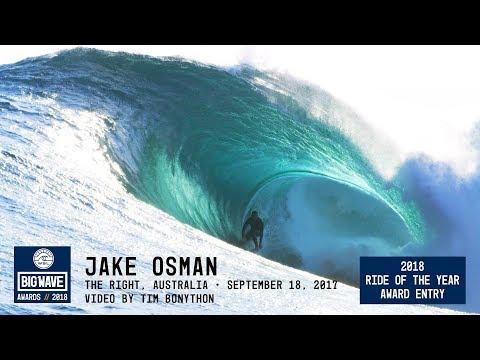 Jake Osman at The Right  - 2018 Ride of the Year Award Entry - WSL Big Wave Awards