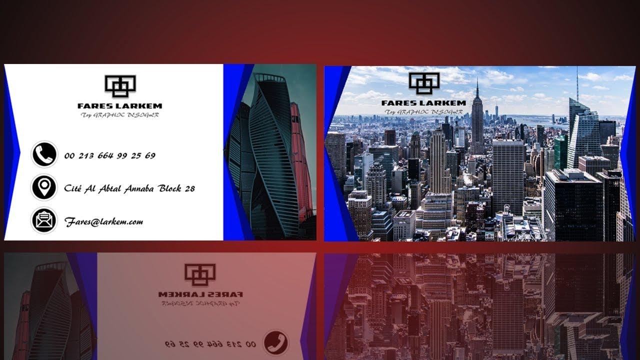 BUSINESS CARD DESIGN PHOTOSHOP TUTORIAL SPEEDART