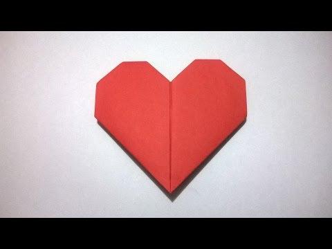 COMO HACER UN CORAZON DE PAPEL - How To Make A Paper Heart