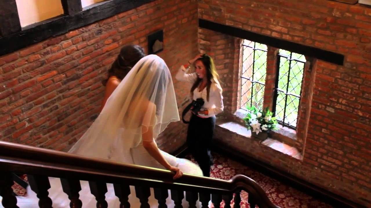 Groom Falls Down Stairs On To Brides