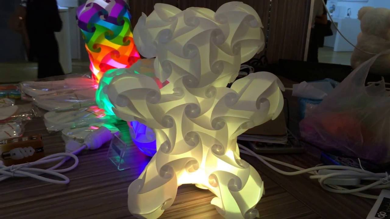 Teddy Bear Lamp With Led With Remote Control Youtube