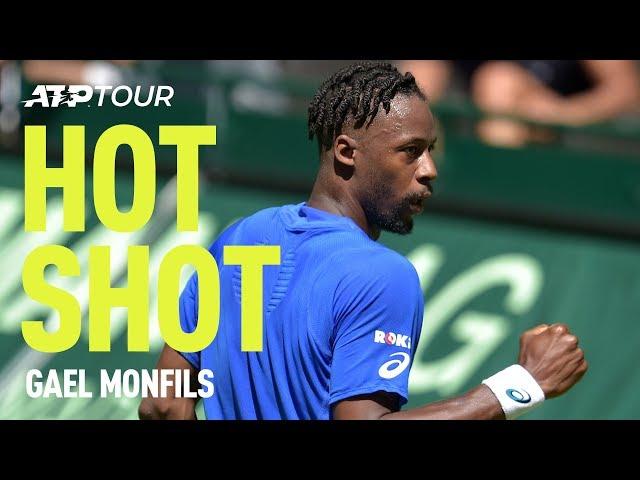 Monfils INSANE Shot In Halle | HOT SHOT | ATP
