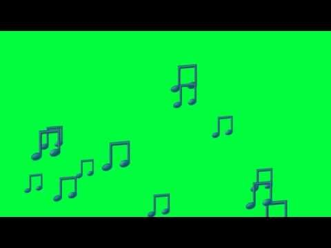 Green Screen Footage Musical Notes (3 Colors)