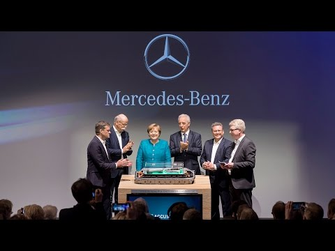 Daimler Battery Factory Groundbreaking Ceremony with German Chancellor Angela Merkel