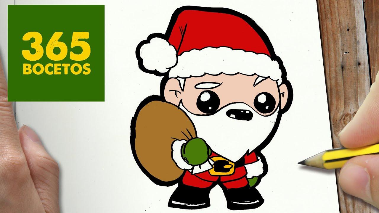 Como Dibujar A Santa Claus Para Navidad Paso A Paso Dibujos Kawaii Navideños Draw A Santa Claus Youtube