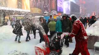 NYC TIMES SQUARE BLIZZARD JAN 23 2016 SNOW STORM