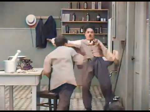 Charlie Chaplin Comedy Video Laughing Gas 1914 - Color (Laurel & Hardy)