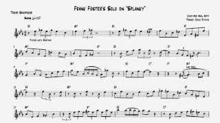 "Frank Foster: ""Splanky"" Tenor Solo [TRANSCRIPTION]"