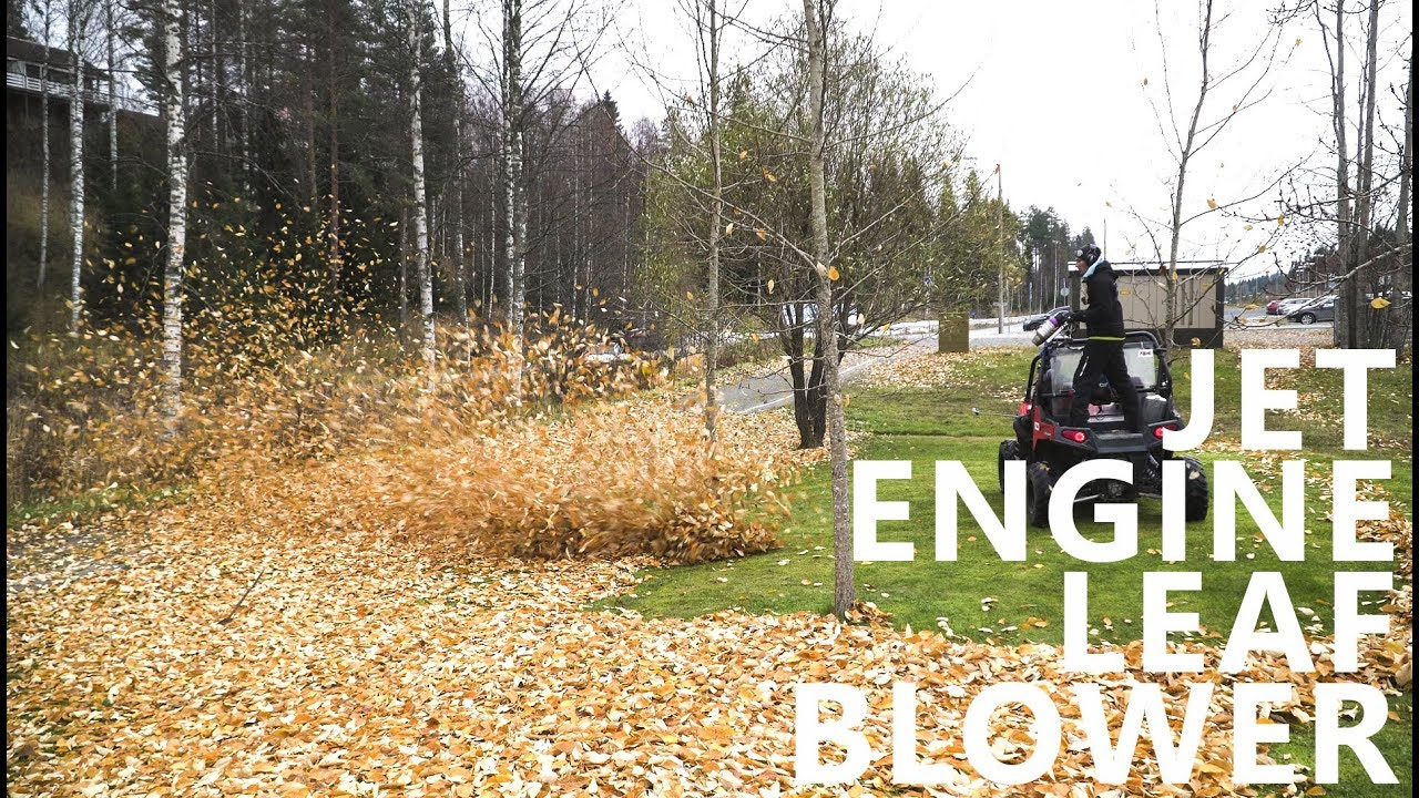 jet engine leaf blower catching up youtube