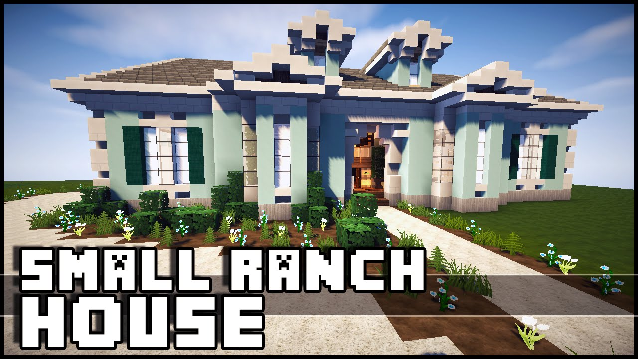 Minecraft small ranch house youtube for Ranch home progetta planimetrie