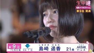 ぱるる、島崎遥香、号泣、AKB48総選挙、9位、インタビュー thumbnail