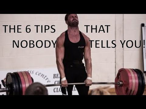 6 TIPS NOBODY TELLS YOU || DEADLIFTING FOR A 1 REP MAX!!
