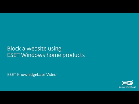 Block a website using ESET Windows home products—ESET